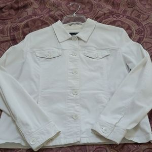 White lightweight button jacket
